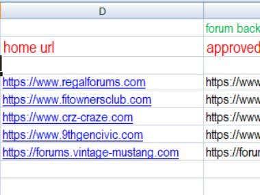 forum posting & profile creation