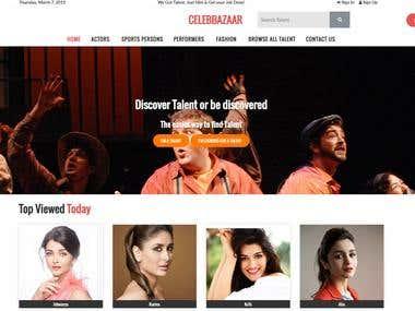 Celebrity Booking Website