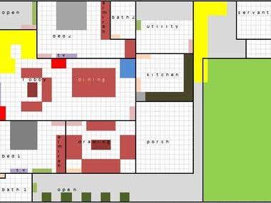 House plan draft