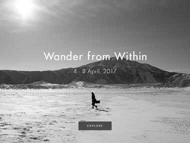 Web Design-Wander from Within