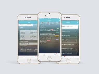 App Design-Leave Application