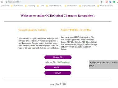 Image/PDF to text conversion.