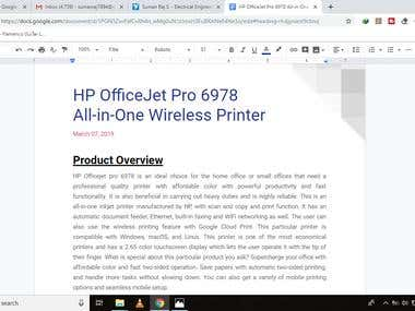 HP Office-jet Printer - Product Review