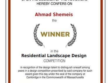 Winning certificate