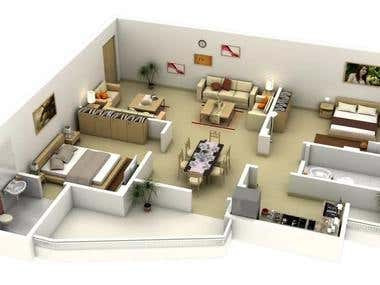 Isometric view of layout