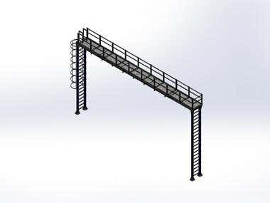 3D Model of Plateform Structure Assembly Drawing.