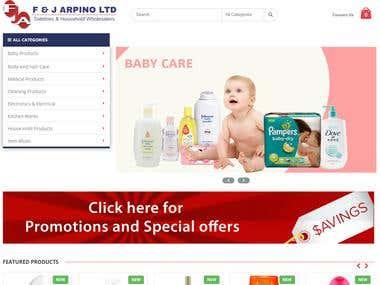 F&J Arpino - ECommerce Website