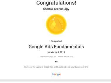 Google Ads Fundamental Certification