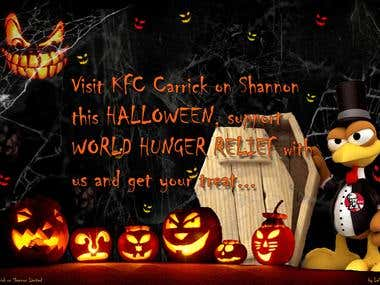 Haloween Poster for local KFC