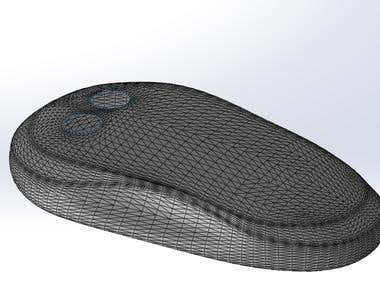 Product design from polygon mesh to plastic injection part