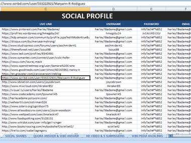 Social Profile Creation For Link Building