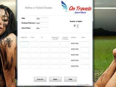 Simple Airline booking application for Windows.