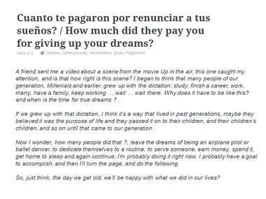 How much did they pay you for giving up your dreams?