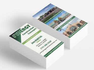 Synergy Construction Concepts Business Card Design