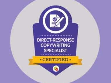 DIRECT-RESPONSE COPYWRITING SPECIALIST CERTIFIED