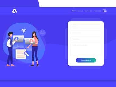 Homepage UI Design