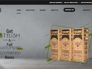 Custom Boxes Packaging Website