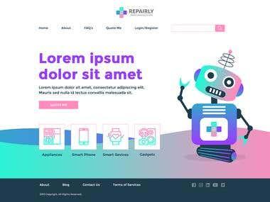 Repaily Website Mockup and Logo Designing
