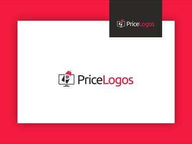 Pricelogos Website Mockup and Logo Design
