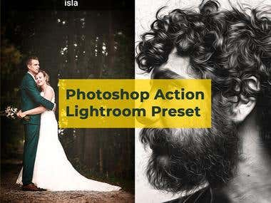 Adobe Lightroom presets and photo shop action