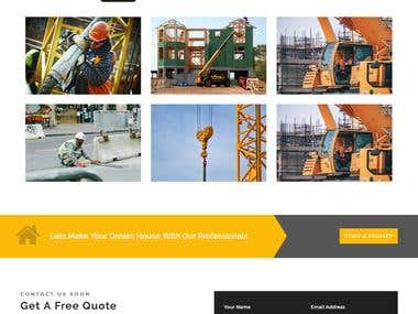 PSD to HTML---- construction Website
