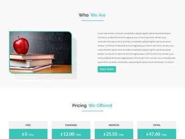 Educational Template...........web design