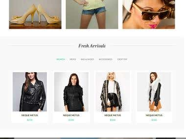 eCommerce Shopping Template -------- web design