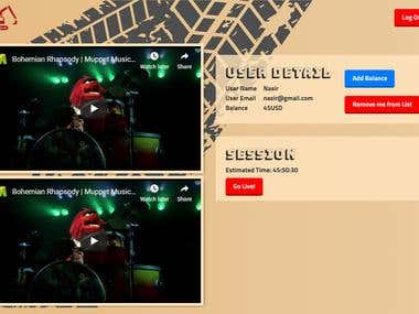 Excavator game website interface