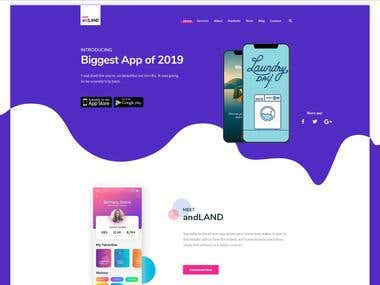 App landing page Design and Development