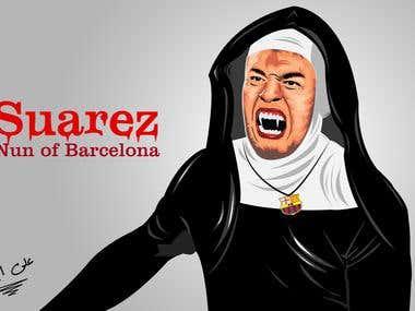 Luis Suarez in Vector art