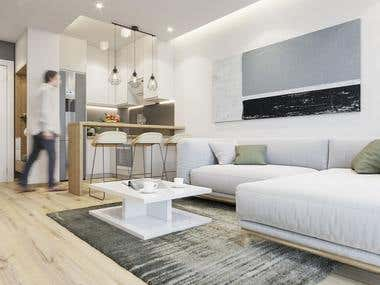 Mauntain Apartment Interior Design!