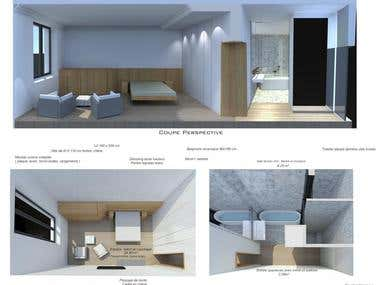 3D Modelling for a studio in Paris, France