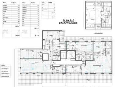 Construction/] &Technical Plans for Appartements & Houses