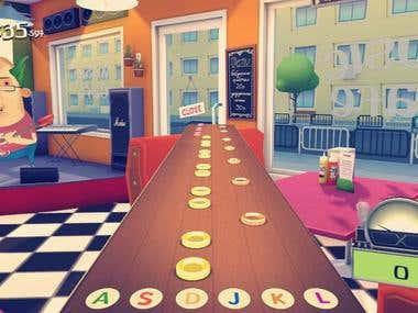 Social 3D music game
