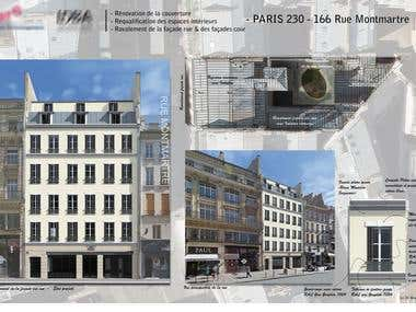 Render for the rehabilitation of a Haussmann building