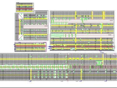 Solar panel layout for a 2MW project