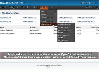 OpenCart Custom Mod & Extension