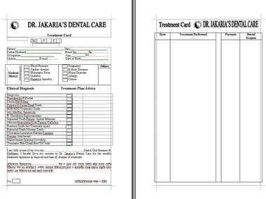Dr. Treatment Card