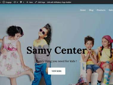 Samy Center E-commerce website
