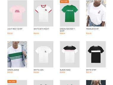 E-Commerce Site Designed on WiX