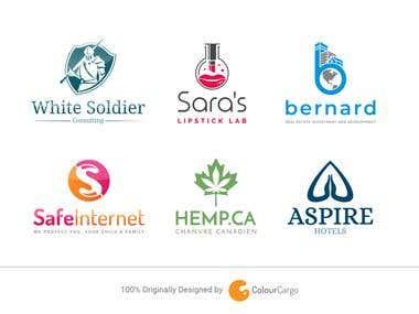 Flat, Minimal and Versatile Logos