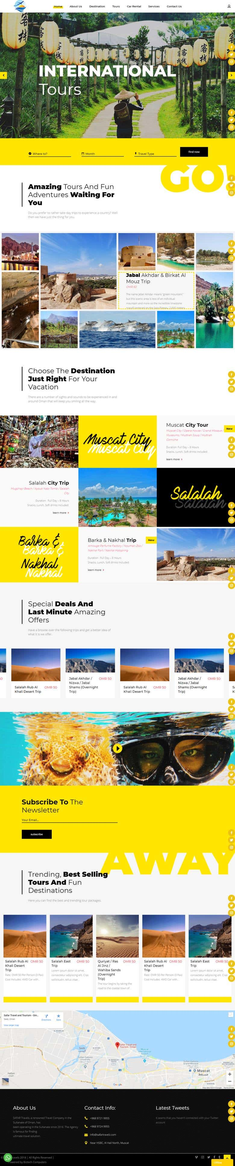 Travel Company in the Sultanate of Oman | Freelancer