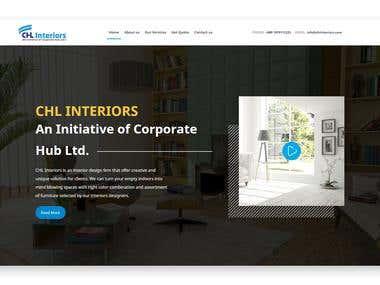 CHL Interior Website Develop