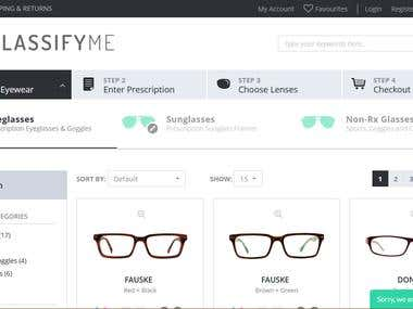 GlassifyMe - OpenCart