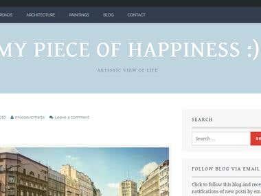 Website administrator, photographer, customer support