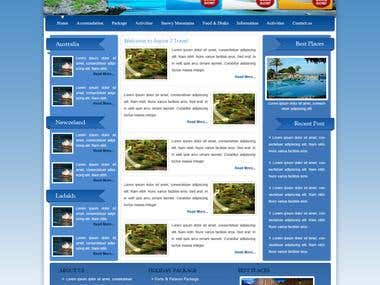 Website Design for Travel
