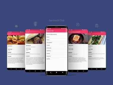 Sandwich Club App