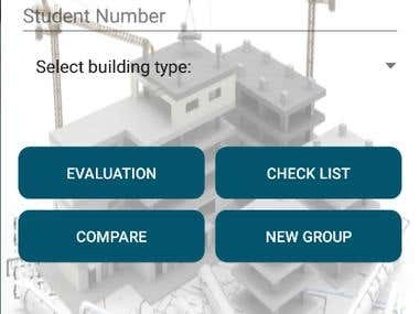 Android App To evaluate architectural projects