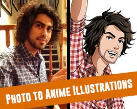 Photo to Anime Illustrations