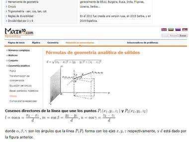 Website translation from English to Spanish